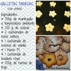 GALLETAS DANESAS. RECETA CON PISTOLA