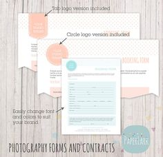 Editable Print Order Form Picture Order Form Photography Order