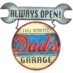 Open Road Brands Dad's Garage Always Open Tin Sign | Shop Hobby Lobby