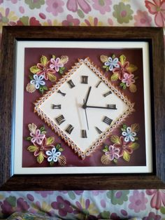 17 Best images about Quilled clocks on Pinterest | Pink ...