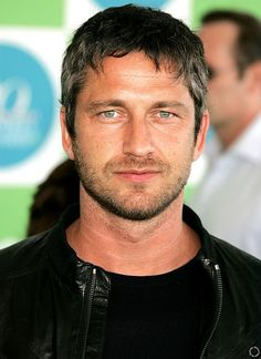 "Gerard Butler as Booker Templet.  Booker to Erika: ""I believe you're just the person to give me what I need."""