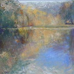 .Morning Pond, 24 x 24, Oil 2004 Kathleen Earthrowl