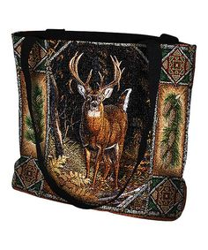 Look at this #zulilyfind! Deer Lodge Tote Bag #zulilyfinds