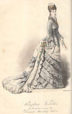 victorian fashion plate 1870's