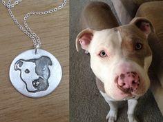 Custom Dog Necklace Eco Friendly Recycled Silver Personalized Pet Keepsake Jewelry Dog Jewelry Pet Portrait Memorial Jewelry Dog Lover by MadisonHouseDesigns on Etsy https://www.etsy.com/listing/191570342/custom-dog-necklace-eco-friendly