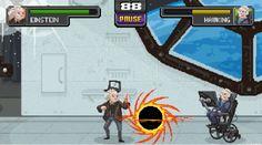 #Juegos #ciencia #einstein Un Mortal Kombat Online con Einstein, Newton y otras figuras de la Ciencia