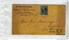 USA ETATS UNIS FRANCE - NEW YORK FROLOIS - ENTETE PUSTKUCHEN FOREIGN DOMESTIC FRUITS - CAD ROUGE - N° 41 3 CENTS