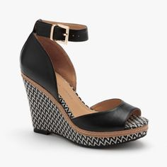 Kayla Leather Wedge in Black. I am in love with these shoes!