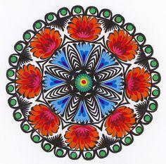 """Lowicz Wycinanki 7"""" - 18cm Floral Round"""