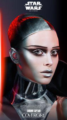 Star Wars | Covergirl | tumblr | Halloween inspiration | costume idea | dark side | CHROME CAPTAIN