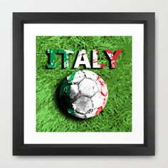 Old football (Italy) Framed Art Print by seb mcnulty - $32.00