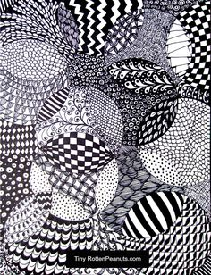 So relaxing and meditative and fun. This is an easy Zentangle idea, and my daughter and I sat around for a few hours last night drawing these and chatting.