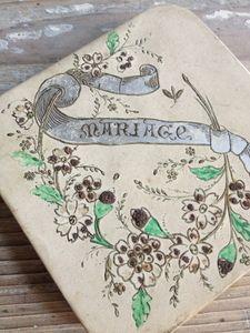 Marriage Souvenir Bonbon Box FleaingFrance Brocante Society