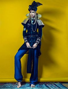 Gertrud Hegelund Models Indian Inspired Fashions for French Revue