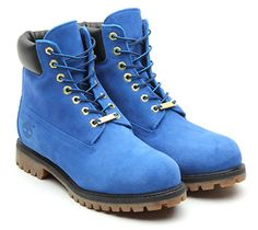 TIMBERLAND 6inch PREMIUM BOOT  BLUE SUEDE - Lafayette