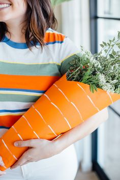 giant easter carrot greenery bouquets!