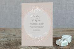 """""""Dreamy"""" - Elegant, Modern Foil-pressed Wedding Invitations in Rose Gold by Phrosne Ras."""