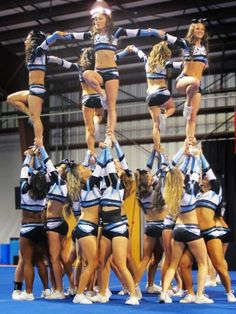 aw this is cute(:  cheer competitive practice all-girl stunt