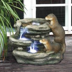 Classic Waters Otters Garden Fountain Sculpture Statue  Price : 220.95 http://www.xoticbrands.net/Classic-Waters-Otters-Fountain-Sculpture/dp/B0065FYZ9Q