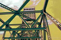 Main street bridge  industrial steel beauty  by TheCheekyPixel, $20.00