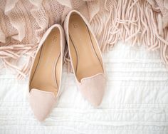 LC Lauren Conrad Women's Smoking Flats in Nude | Available on Kohls.com and at your local Kohl's store