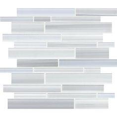 Sassi - Tribeca Glacier Strip Glass Mosaic - 12-172 - Home Depot Canada. $12.97/sq ft