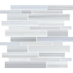 Sassi - Tribeca Glacier Strip Glass Mosaic - 12-172 - Home Depot Canada. $12.97/sq ft