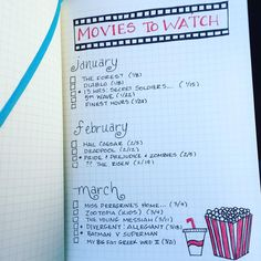 """#planwithmechallenge - Layouts & Inserts. movies to watch  (My 2nd photo for this one.) The layout of my movie list.  #bulletjournal"""