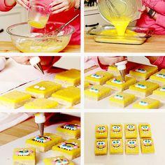 Spongebob Lemon Bars by Rosanna Pansino   Nerdy Nummies Food Craft