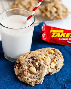 Take 5 Candy Bar Cookies from Neighbor Food.