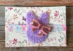 Easter Headband/Bunny Headband/Headband/Newborn Headband/Baby Girl Headband/Headbands/Infant Headband/Baby Headband/Baby Headbands/Bunny by JuliaGraceDesigns1 on Etsy