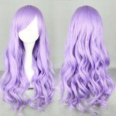 Four Color Japanese Harajuku Lolita Wigs,Multi-color Long Curly Hair