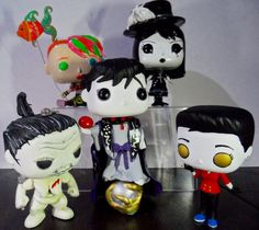 The Endless  Five out of seven siblings completed so far.  (Back row): Delirium, Death (Front row): Despair, Dream Desire  Funko Pop! custom project