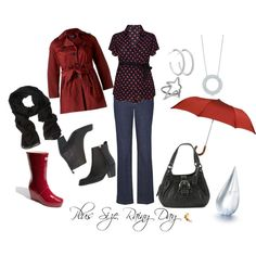 """Plus Size Rainy Day"" by redheaded-diva on Polyvore"