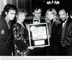 Michael Jackson, Amy Irving, Steven Spielberg, Barbra Streisand and Quincy Jones.