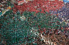 david oliete: human tower competition in tarragona, spain