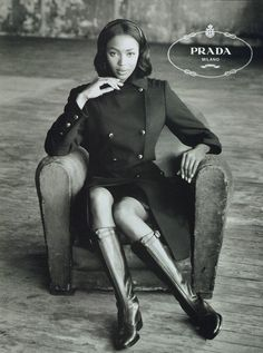 Naomi Campbell for #Prada F/W 1994 shot by Steven Meisel