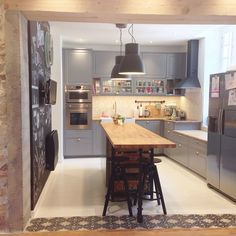 Nouvelle cuisine Ikea Bodbyn gris Metod: tendance scandinave, carreaux de…