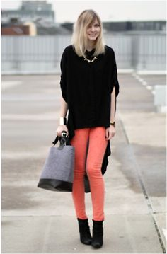 Pantalons Corail, Pantalons Roses, Rose Corail, Idee Look, Sac, Jean Corail 9242140731e
