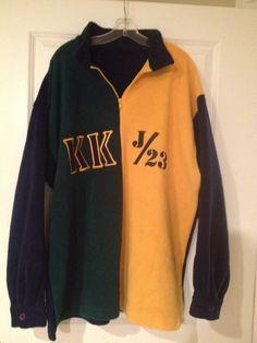 VTG Karl Kani J 23 Fleece 1/4 Zip Jacket Sweatshirt Stadium Color Block 2XL LN
