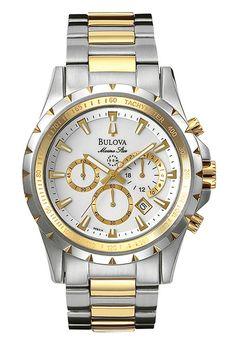 61755300129 Bulova Marine Star Two Tone Men s Watch 98B014