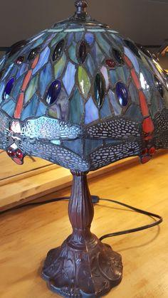 Blue Dragonfly Tiffany style lamp.