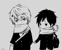 Cold Shizuo and Izaya chibis GIF