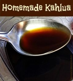 "This Homemade Kahlua recipe may not be the same as the one Pedro Domecq produced in but it's pretty darn good. Kahlua means ""House of the Acolhua peop Homemade Liqueur Recipes, Homemade Kahlua, Homemade Alcohol, Homemade Liquor, Kalua Recipe, Yummy Drinks, Healthy Drinks, Kahlua Coffee Liqueur, Raspberry Cocktail"