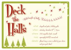 Signs Of The Season Printable Invitation Template Customize Add - Party invitation template: office christmas party invite template