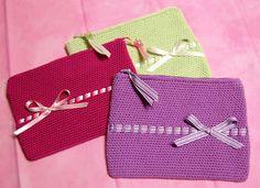 Bolsas Crochet Forro Tecido