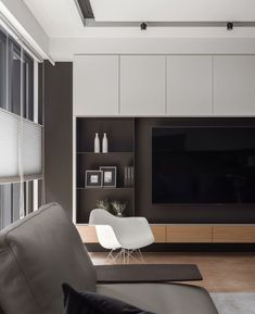 Modern home design Living Room Wall Units, Living Room Tv Unit Designs, Home Living Room, Interior Design Living Room, Living Room Decor, Painel Tv Sala Grande, House Design, Tv Wall Design, Home Decor