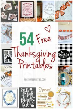 Take a look at the best free Thanksgiving printables 2016 came up with, and have your Thanksgiving decorations and activities ready in a snap!
