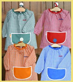 Guardería Basic Easy Sewing Patterns, Easy Sewing Projects, Baby Wearing, Fabric, How To Wear, Fashion, Pinafore Apron, Kids Apron, Dresses For Babies