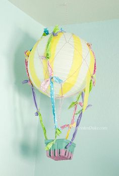 Whimsical Hot Air Balloon Craft..... http://@Lauren Davison Davison Davison Gregory we MUST do this one day for the girls.... so cute!!